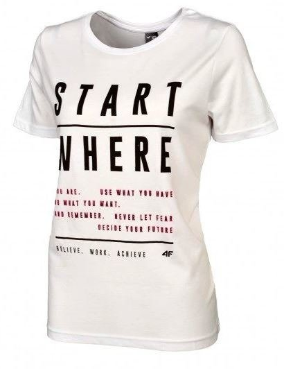 T-shirt damski 4F koszulka biała TSD009 S