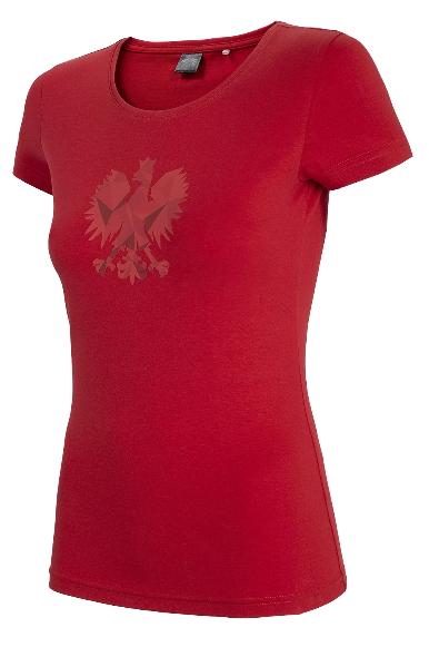 T-shirt damski 4F koszulka kibica czerwona
