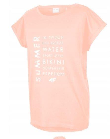 T-shirt damski 4F koszulka pomarańczowa TSD014