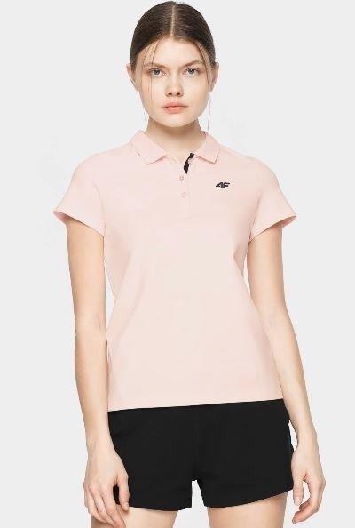 T-shirt damski 4F polo TSD007 pudrowy róż