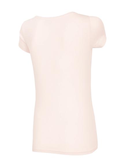 T-shirt damski bawełniany 4F TSD001 RÓŻOWY