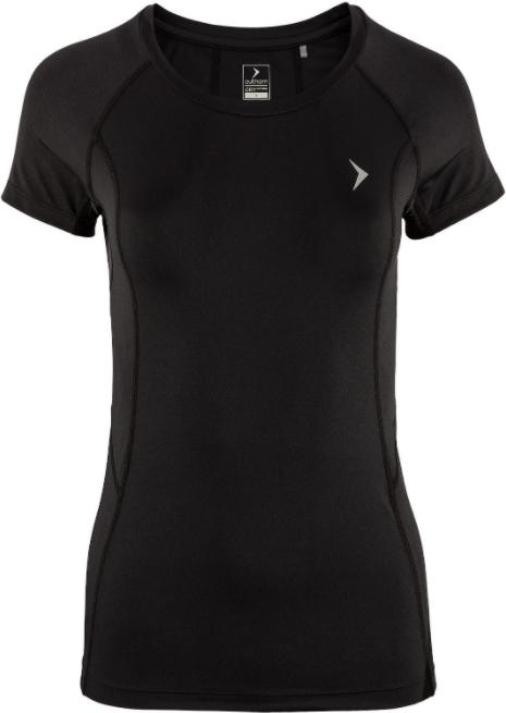 T-shirt damski fitness OUTHORN TSDF602 czarna XS