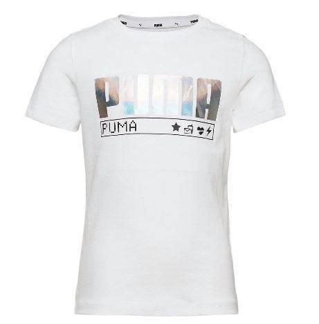 T-shirt dziewczęcy PUMA 583299 52 biały