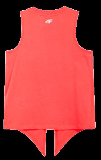 T-shirt dziewczęcy bez rękawów 4F JTSD013A róż