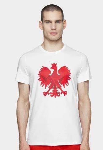 T-shirt koszulka męska 4F kibica TSM500 biała