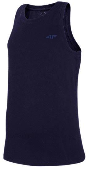 T-shirt męski 4F TSM002 bokserka granat bawełna