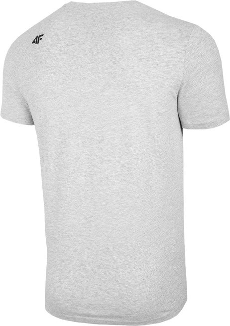 T-shirt męski 4F TSM004 JASNY SZARY bawełna