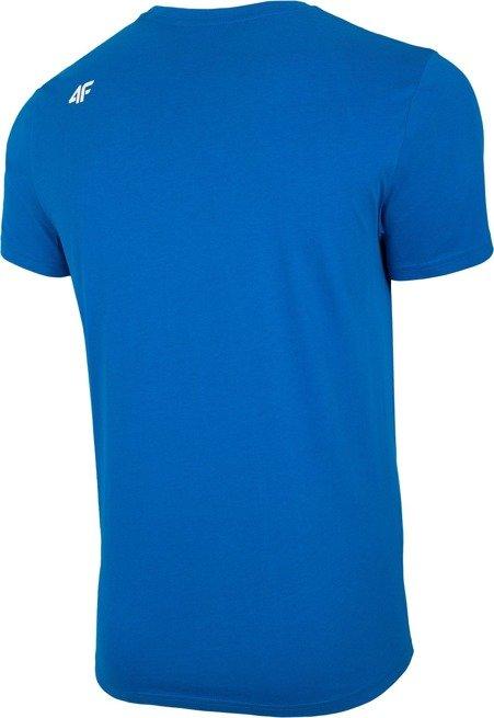 T-shirt męski 4F TSM004 niebieski bawełna