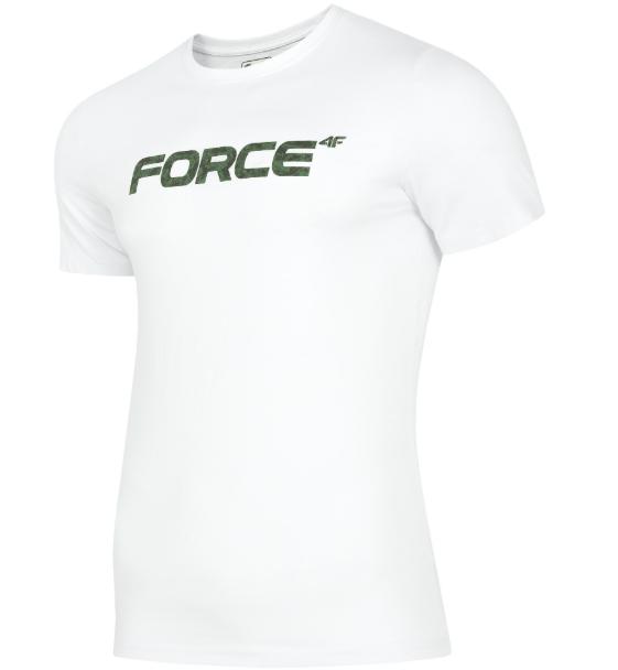 T-shirt męski 4F TSM006  BIAŁY