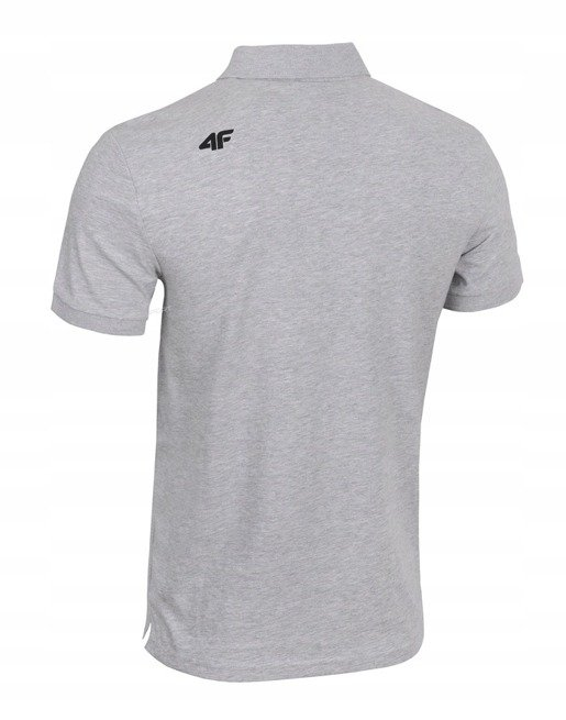 T-shirt męski 4F TSM007 POLO jasny szary