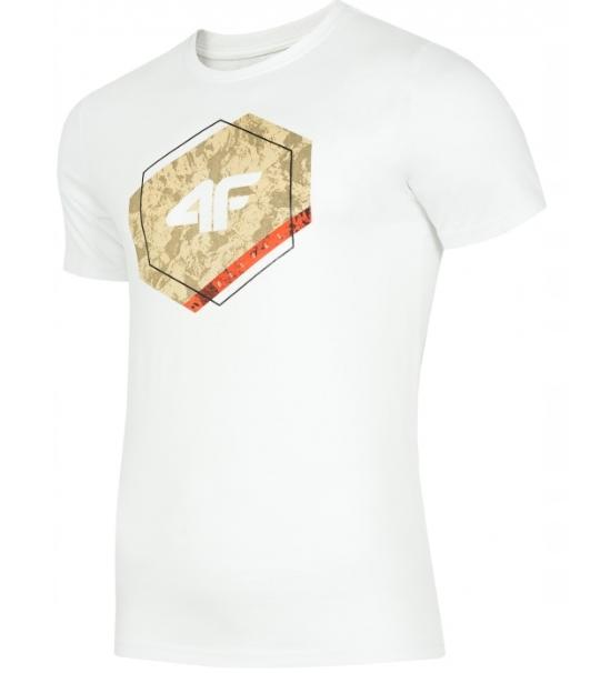T-shirt męski 4F TSM010  BIAŁY