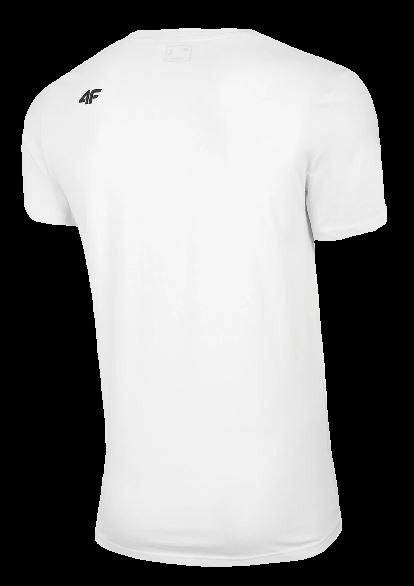 T-shirt męski 4F TSM011 BIAŁY
