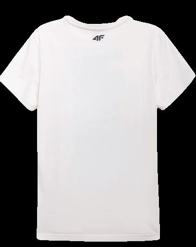 T-shirt męski 4F TSM011 bawełna złamana biel