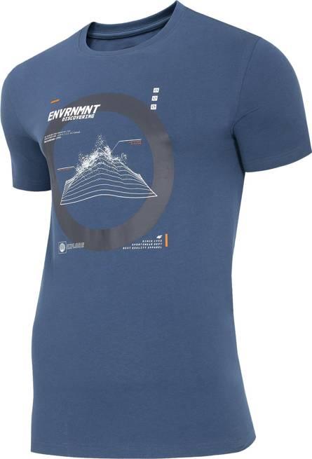 T-shirt męski 4F TSM014 bawełniany granatowy