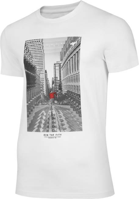 T-shirt męski 4F TSM020 bawełniany biały