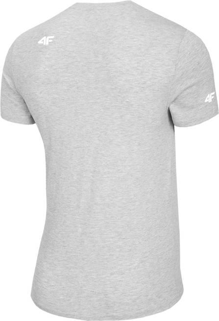 T-shirt męski 4F TSM023 bawełniany jasny szary