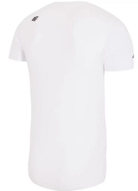 T-shirt męski 4F TSM026 bawełniany biały