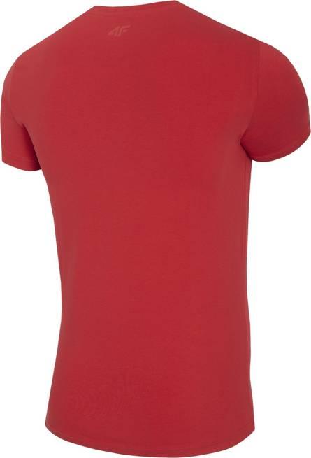 T-shirt męski 4F TSM026 bawełniany czerwony