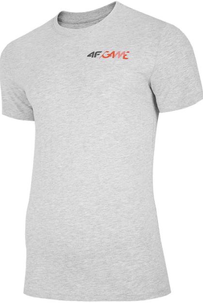 T-shirt męski 4F TSM030 koszulka szara