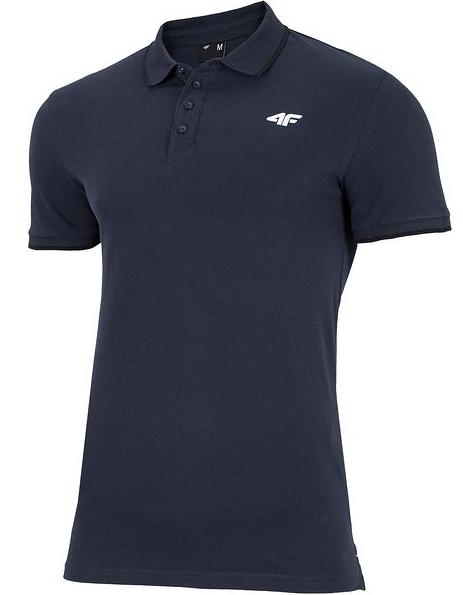 T-shirt męski 4F granatowy TSM024 koszulka polo S