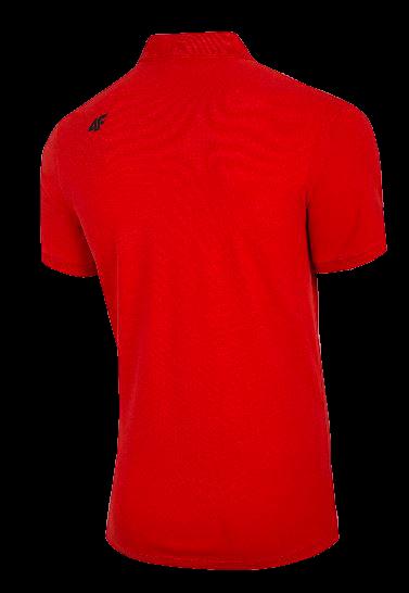 T-shirt męski 4F polo TSM008 czerwony