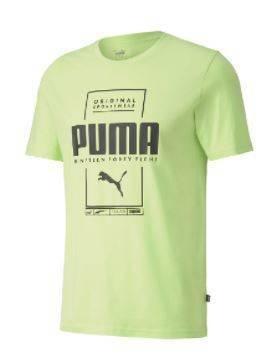T-shirt męski PUMA 584505 34 zielony neon