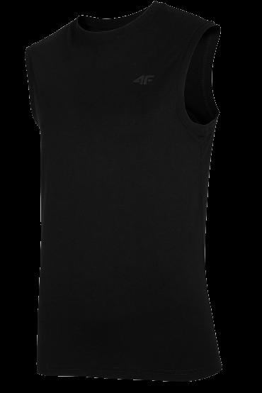 T-shirt męski TSM001 bez rękawów 4F czarny
