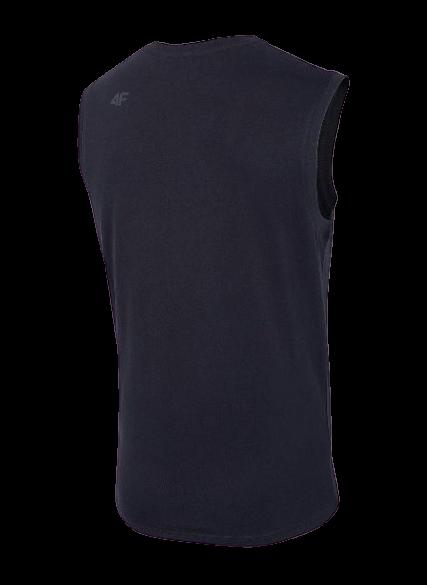 T-shirt męski TSM001 bez rękawów 4F granat