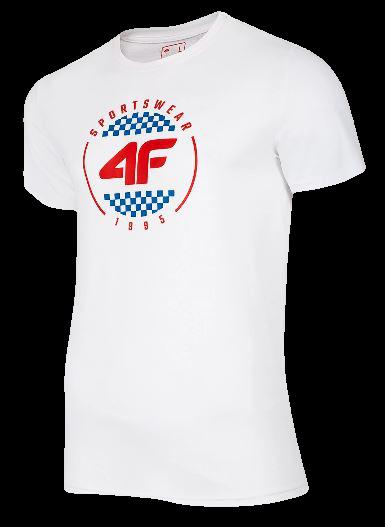 T-shirt męski bawełniany 4F TSM022 biały