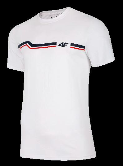 T-shirt męski bawełniany 4F TSM024 biały