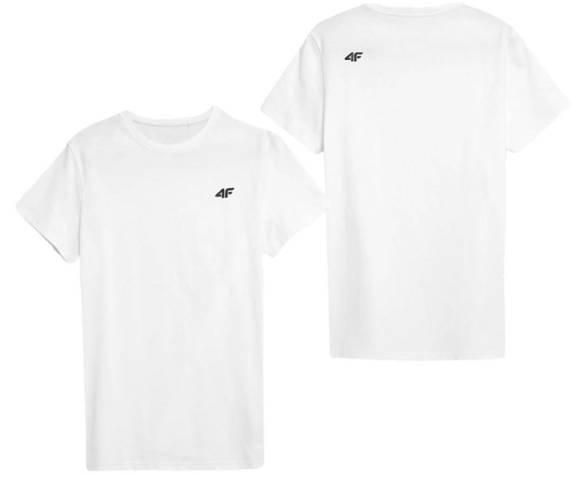 T-shirt męski bawełniany 4F TSM352 biały