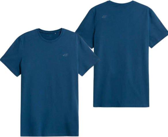 T-shirt męski bawełniany 4F TSM352 niebieski