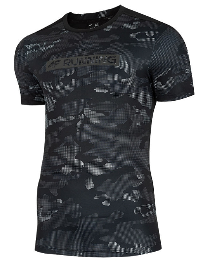 T-shirt sportowy męski 4F TSMF017 czarny