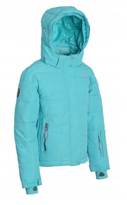 kurtka narciarska dziewczęca JKUDN003 turkus 140